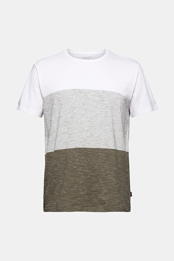 T-shirt with block stripes with organic cotton