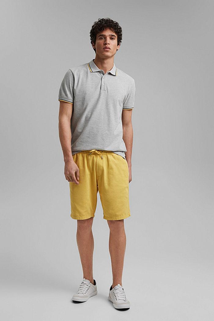 Polo en maille piquée, coton bio, LIGHT GREY, detail image number 2