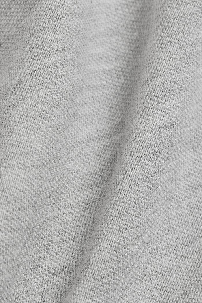 Polo en maille piquée, coton bio, LIGHT GREY, detail image number 4