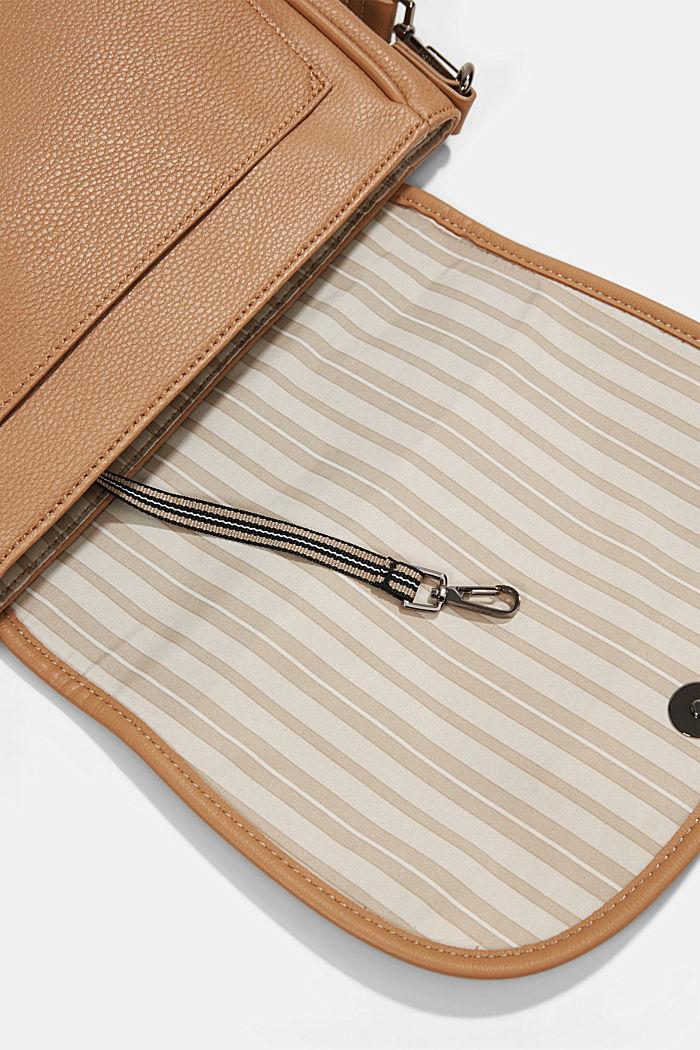 Susie T.: Saddle-style shoulder bag, CAMEL, detail image number 4