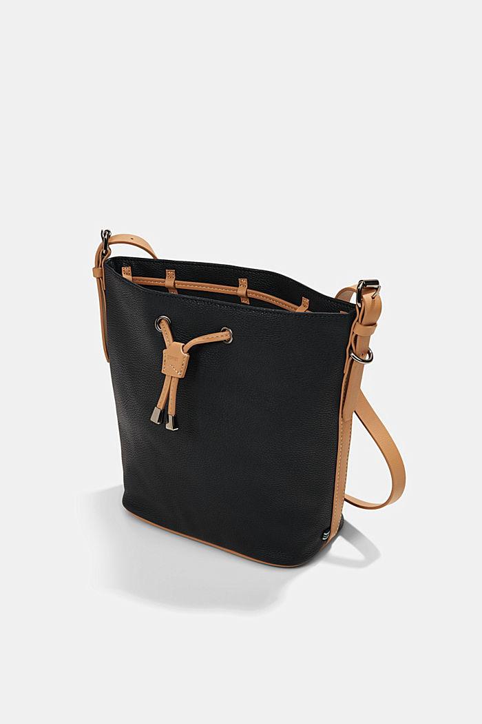 Susie T. bucket bag, vegan, BLACK, detail image number 2