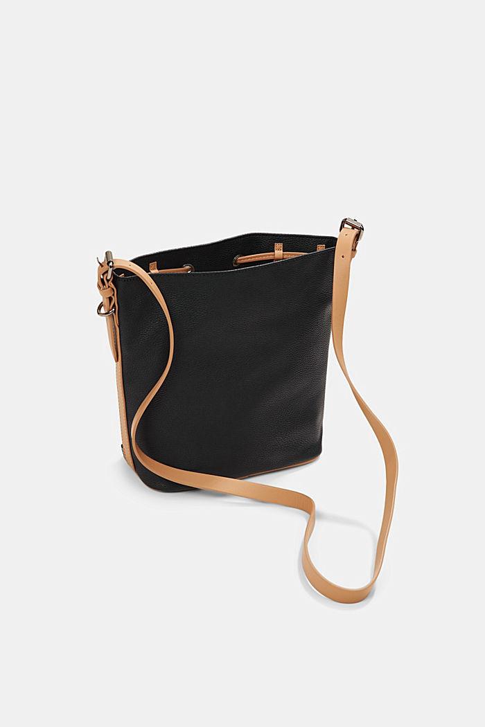Susie T. bucket bag, vegan, BLACK, detail image number 4