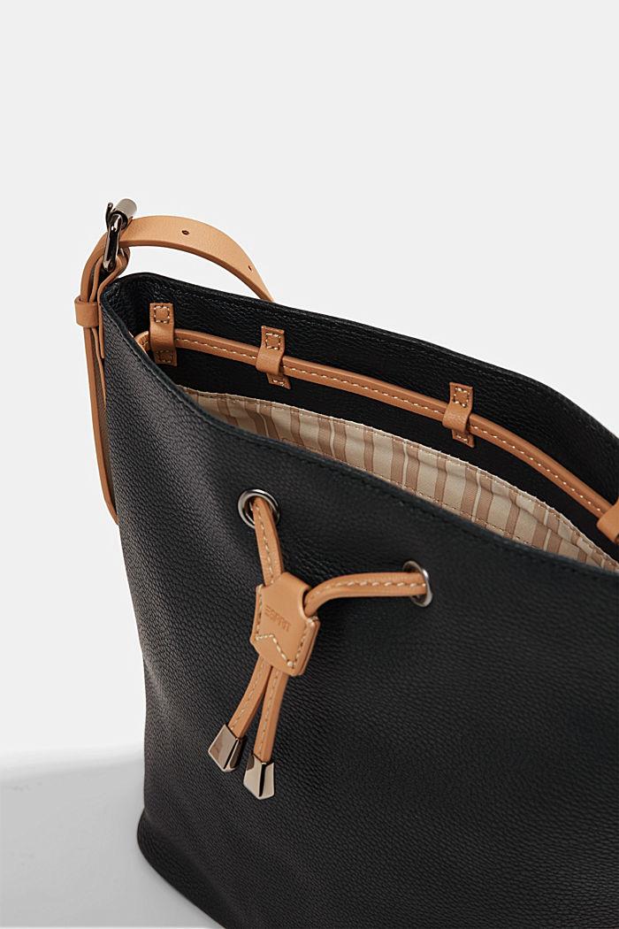 Susie T. bucket bag, vegan, BLACK, detail image number 3