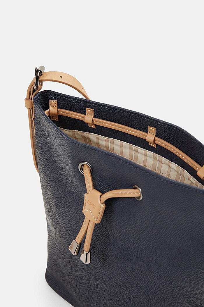 Susie T. bucket bag, vegan, NAVY, detail image number 3