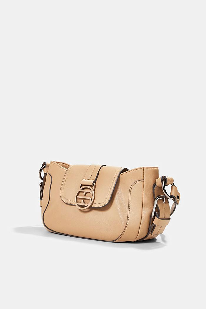 Vegan: baguette-style shoulder bag, CAMEL, detail image number 2