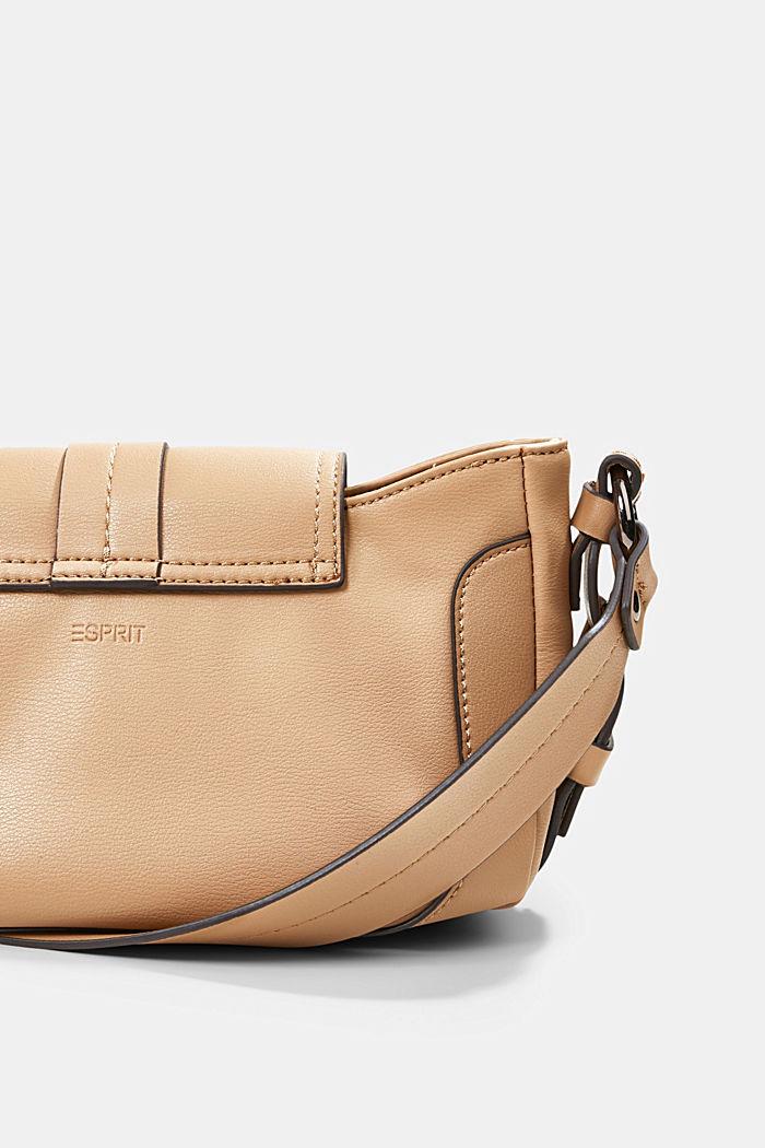 Vegan: baguette-style shoulder bag, CAMEL, detail image number 5
