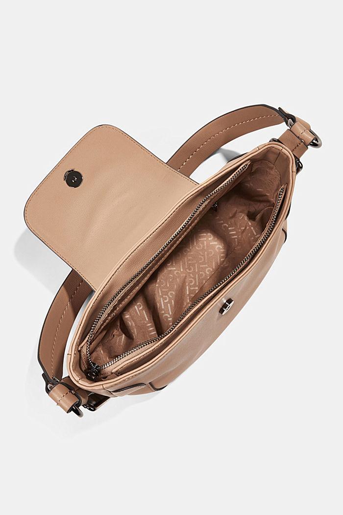 Vegan: baguette-style shoulder bag, CAMEL, detail image number 4