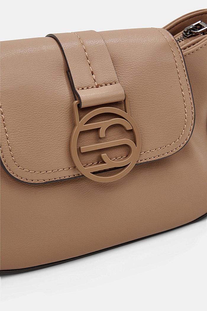 Vegan: baguette-style shoulder bag, CAMEL, detail image number 3
