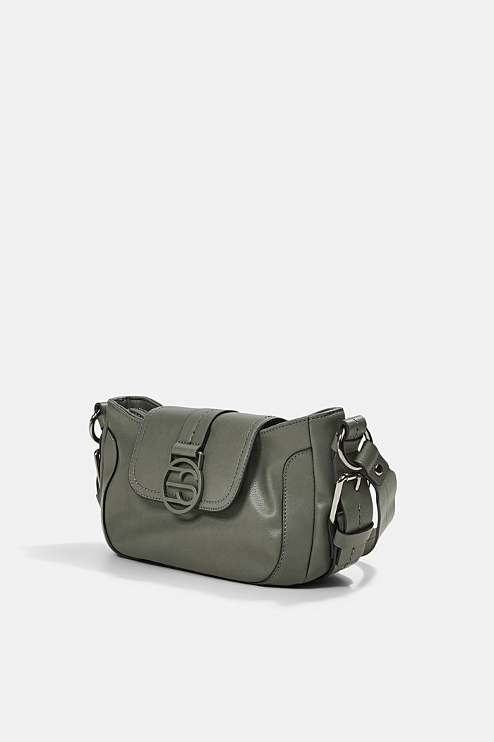 Vegan: baguette-style shoulder bag, OLIVE, detail image number 2