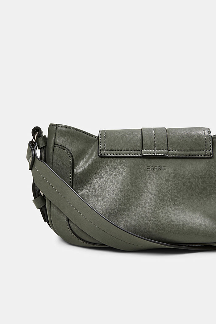 Vegan: baguette-style shoulder bag, OLIVE, detail image number 4
