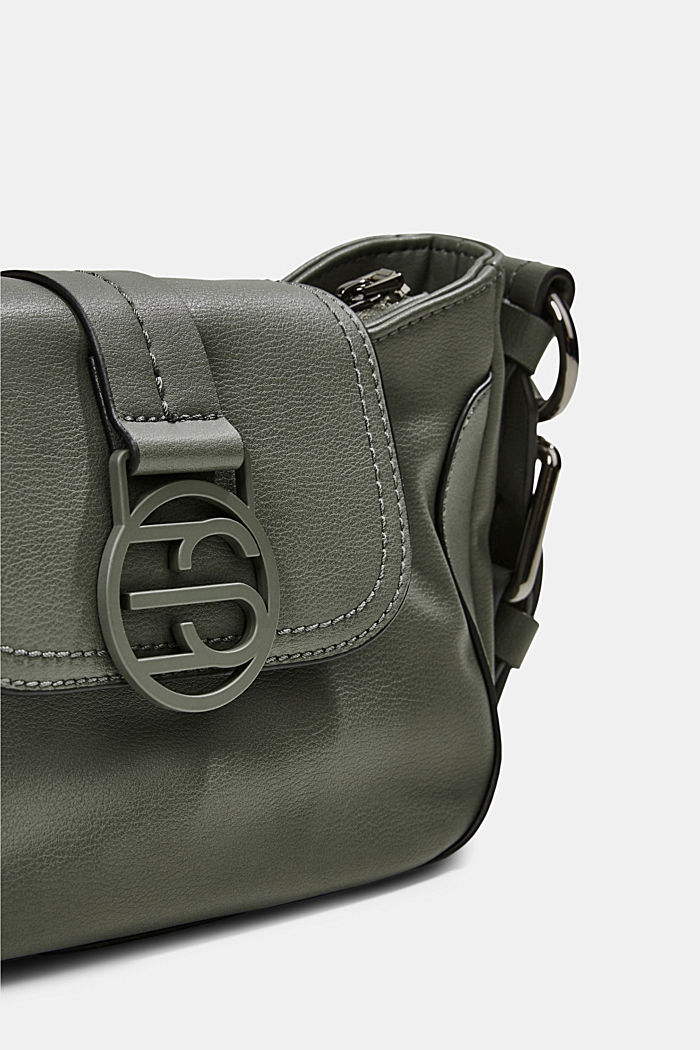 Vegan: baguette-style shoulder bag, OLIVE, detail image number 3