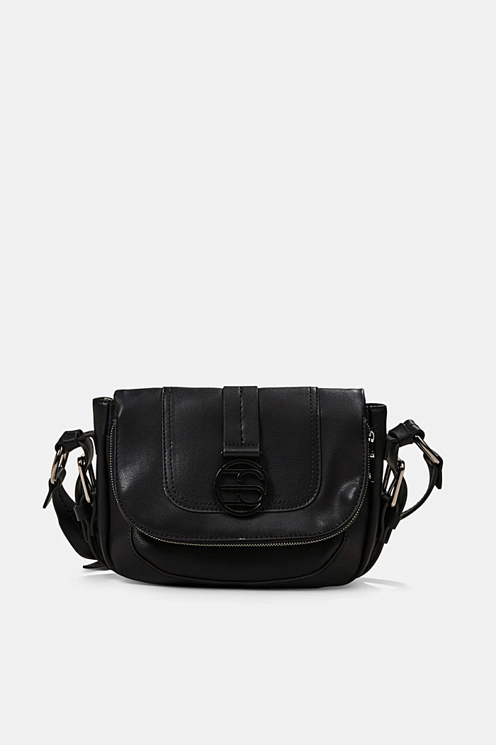 Vegan: Flap-over-Bag Hallie T., BLACK, detail image number 0