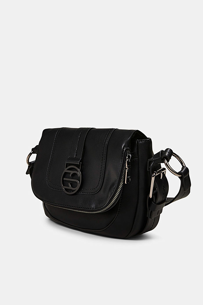 Vegan: Flap-over-Bag Hallie T., BLACK, detail image number 2