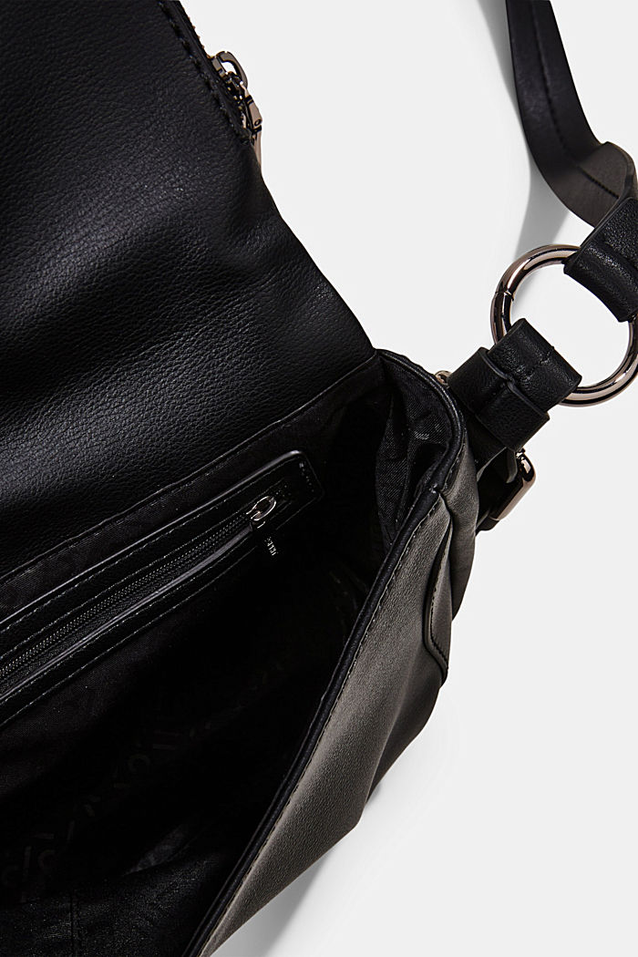 Vegan: Flap-over-Bag Hallie T., BLACK, detail image number 4