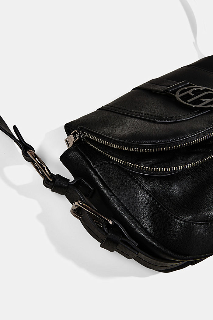 Vegan: Flap-over-Bag Hallie T., BLACK, detail image number 3