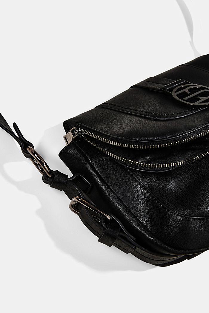 Vegan: Hallie T. flap-over bag, BLACK, detail image number 3