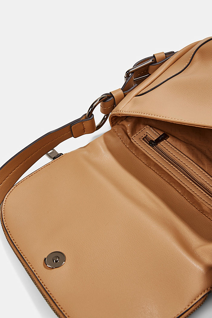 Vegan: Flap-over-Bag Hallie T., CAMEL, detail image number 4
