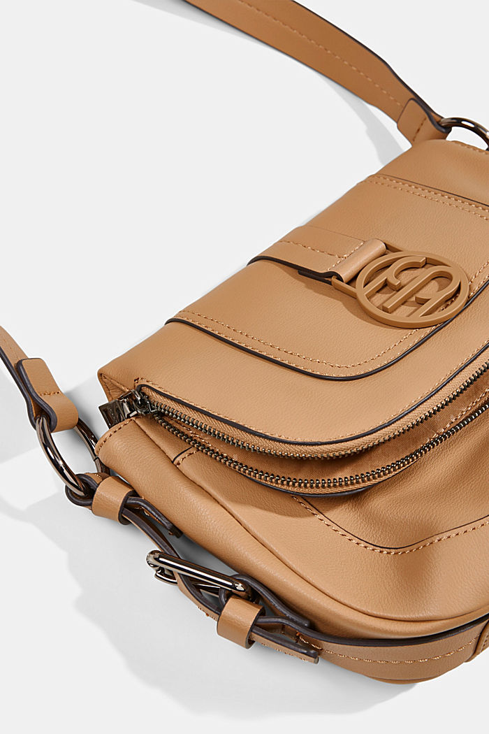 Vegan: Flap-over-Bag Hallie T., CAMEL, detail image number 3
