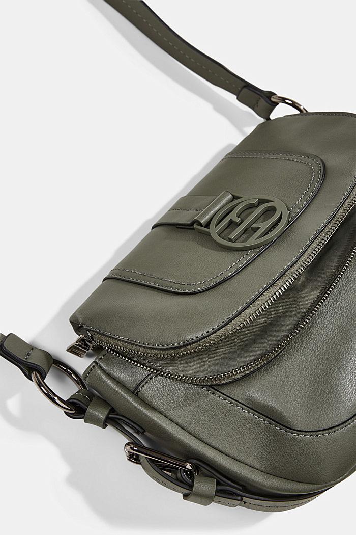 Vegan: Flap-over-Bag Hallie T., OLIVE, detail image number 3