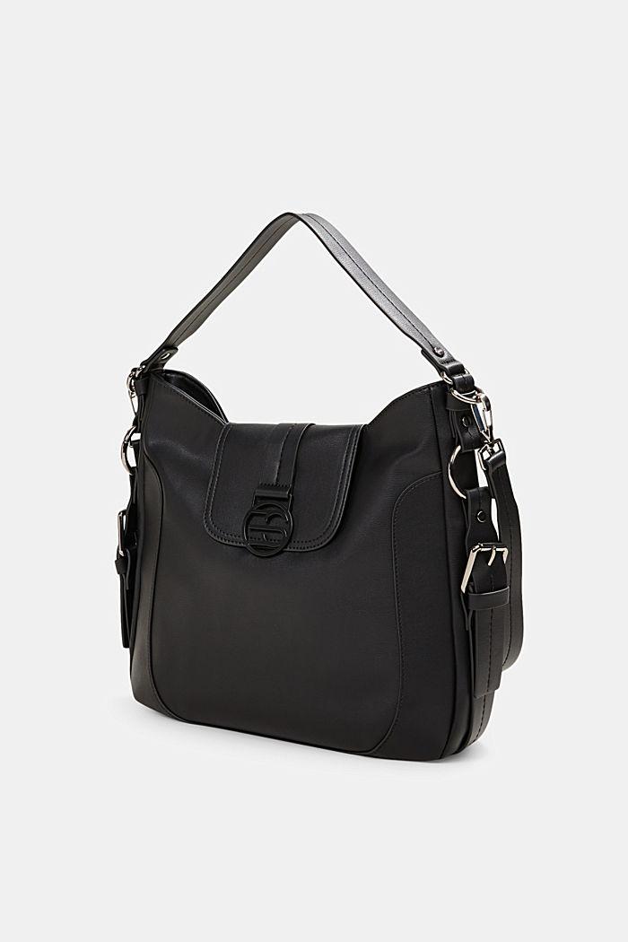 Hallie T. hobo shoulder bag, vegan, BLACK, detail image number 2
