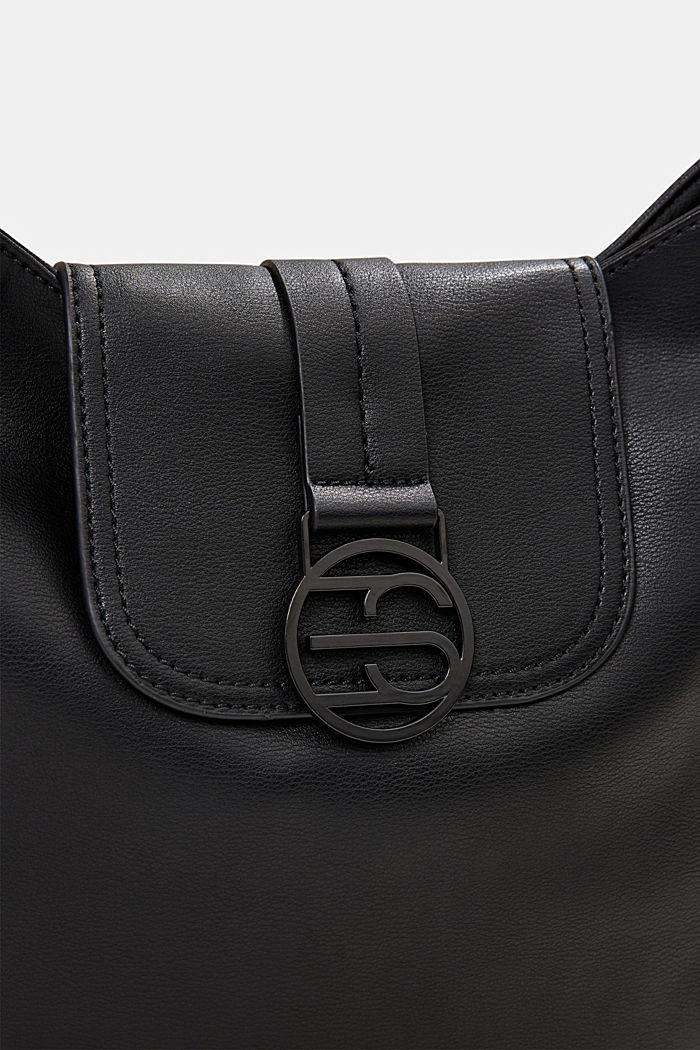 Hallie T. hobo shoulder bag, vegan, BLACK, detail image number 3