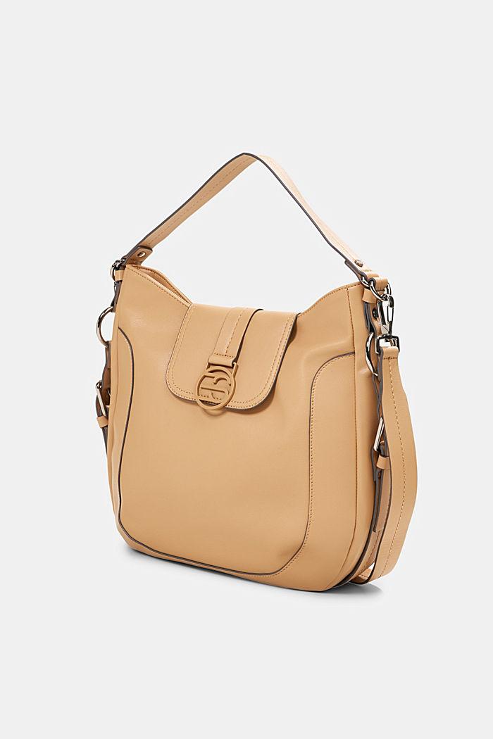 Hallie T. hobo shoulder bag, vegan, CAMEL, detail image number 2