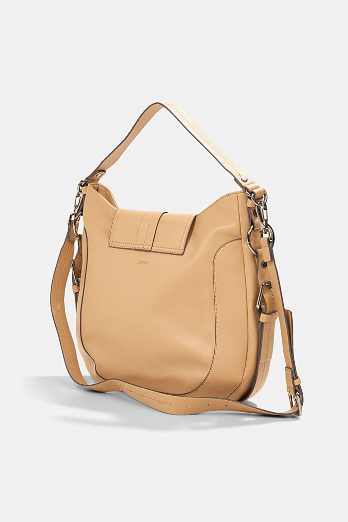 Hallie T. hobo shoulder bag, vegan, CAMEL, detail image number 4