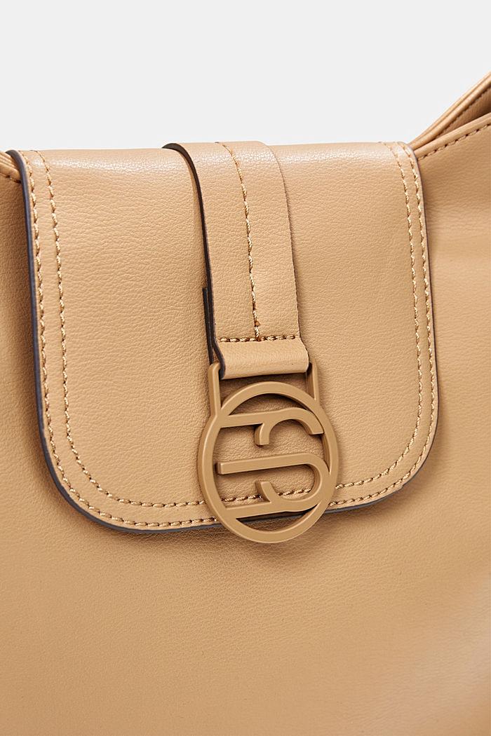 Hallie T. hobo shoulder bag, vegan, CAMEL, detail image number 3