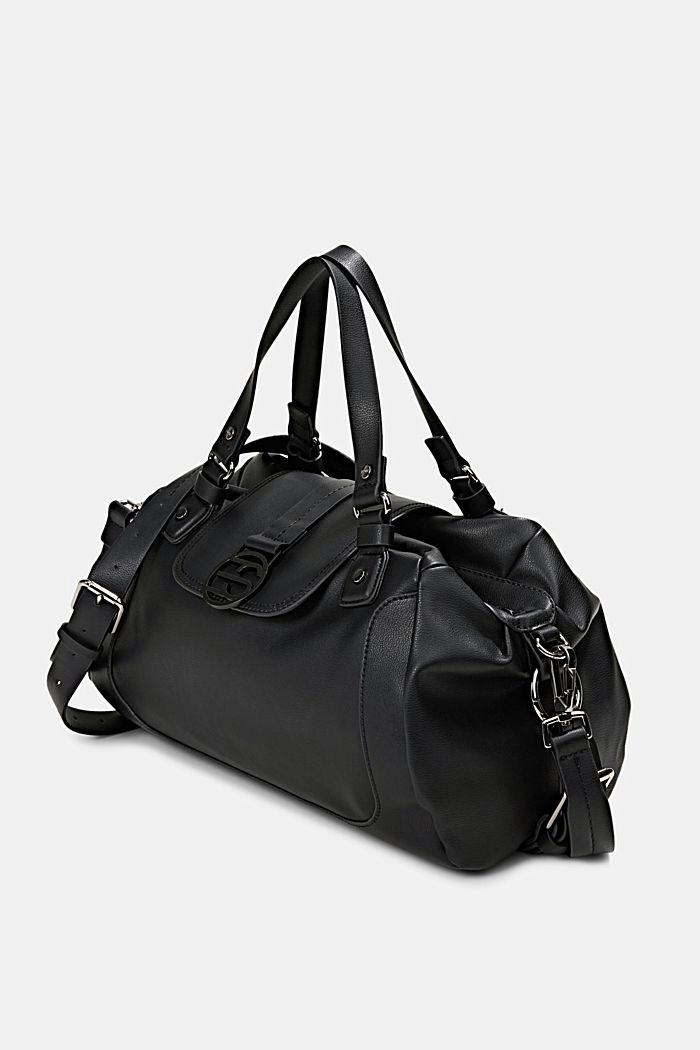 Hallie T.: torba miejska z paskiem na ramię, wegańska, BLACK, detail image number 2