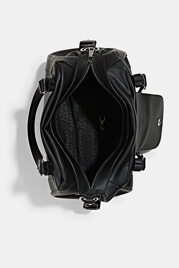 Hallie T.: torba miejska z paskiem na ramię, wegańska, BLACK, detail image number 4