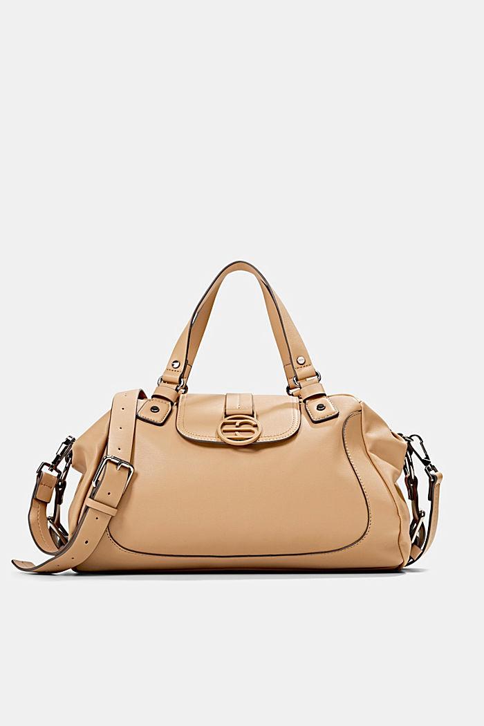 Hallie T.: city bag with shoulder strap, vegan, CAMEL, detail image number 0