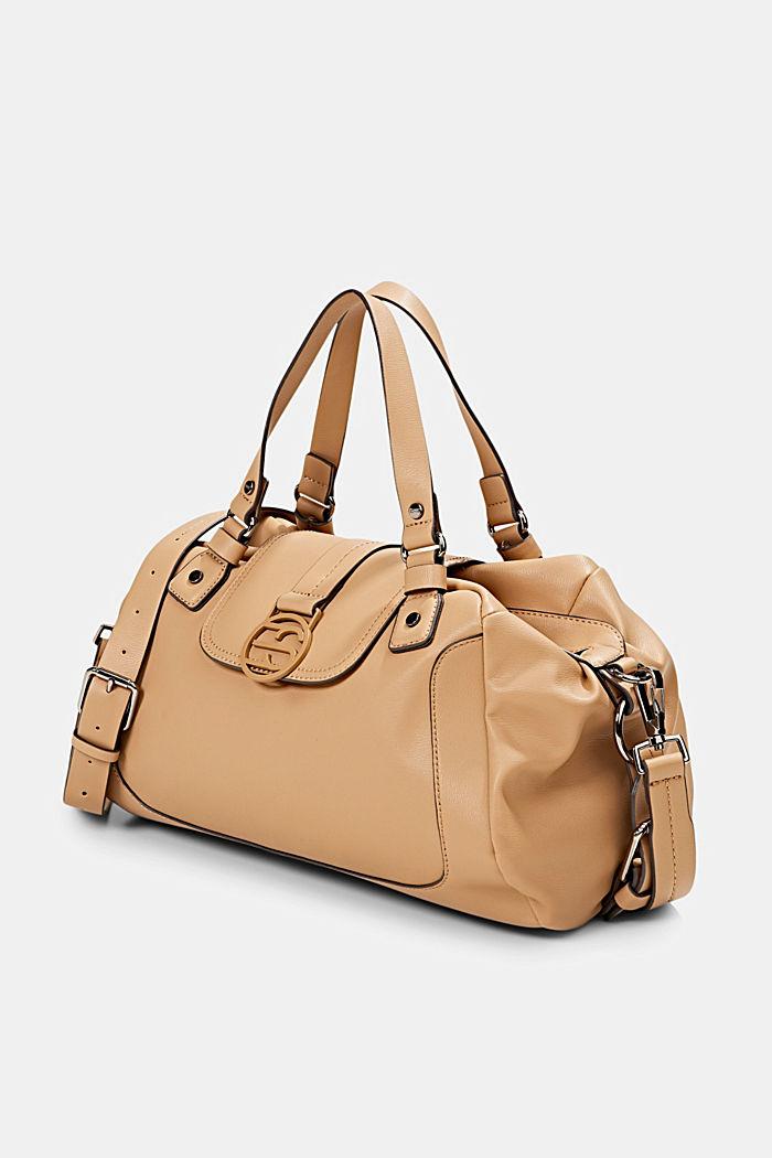 Hallie T.: city bag with shoulder strap, vegan, CAMEL, detail image number 2