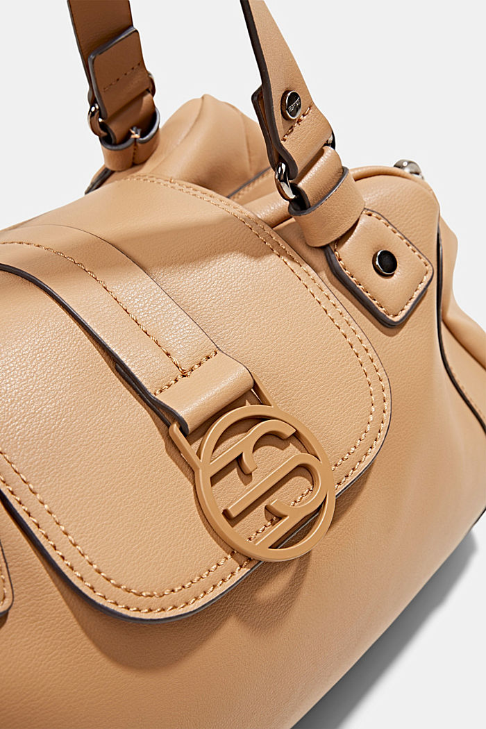 Hallie T.: city bag with shoulder strap, vegan, CAMEL, detail image number 3