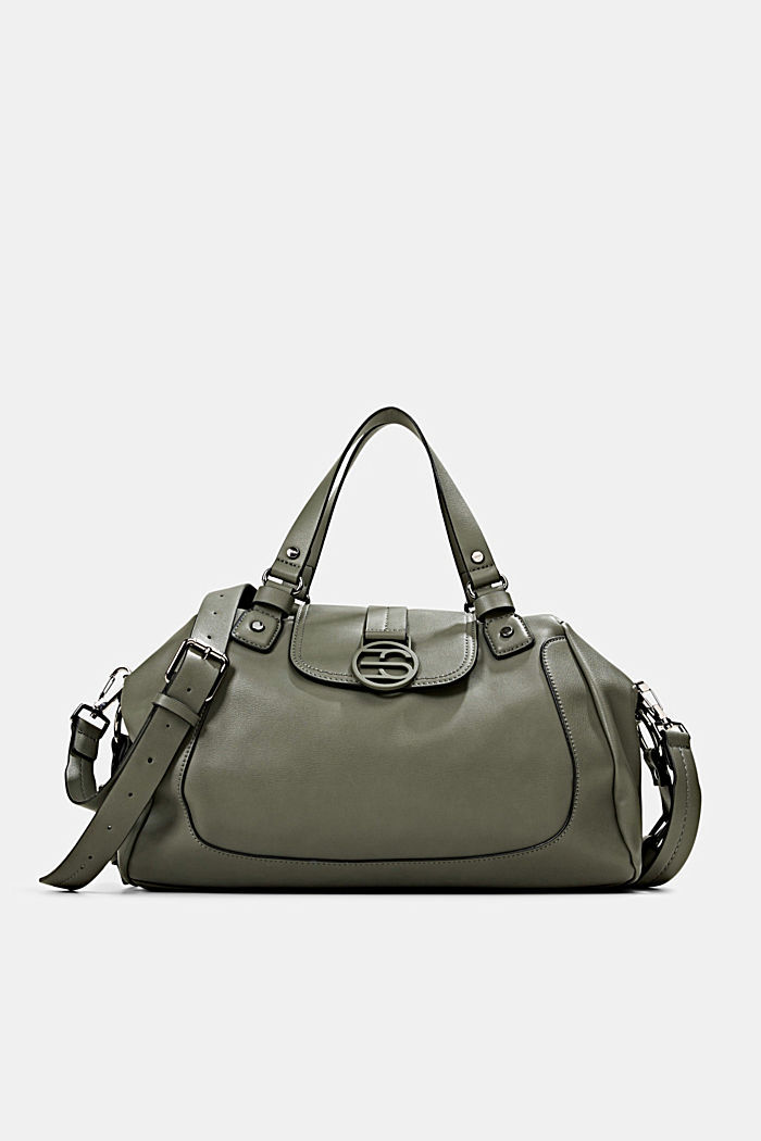 Vegan: City bag with adjustable shoulder strap, OLIVE, detail image number 0