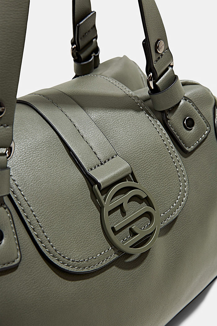 Vegan: City bag with adjustable shoulder strap, OLIVE, detail image number 3