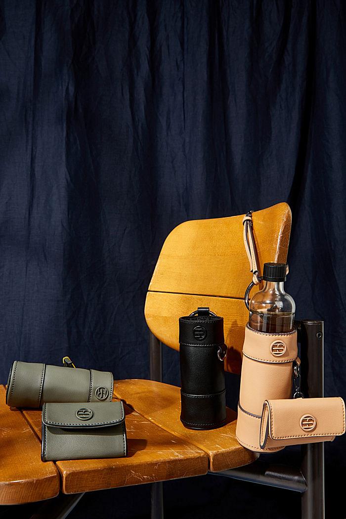 Vegan: bottle bag plus small wallet, CAMEL, detail image number 2