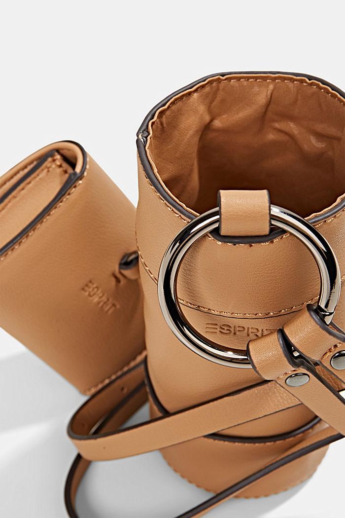 Vegan: bottle bag plus small wallet, CAMEL, detail image number 4