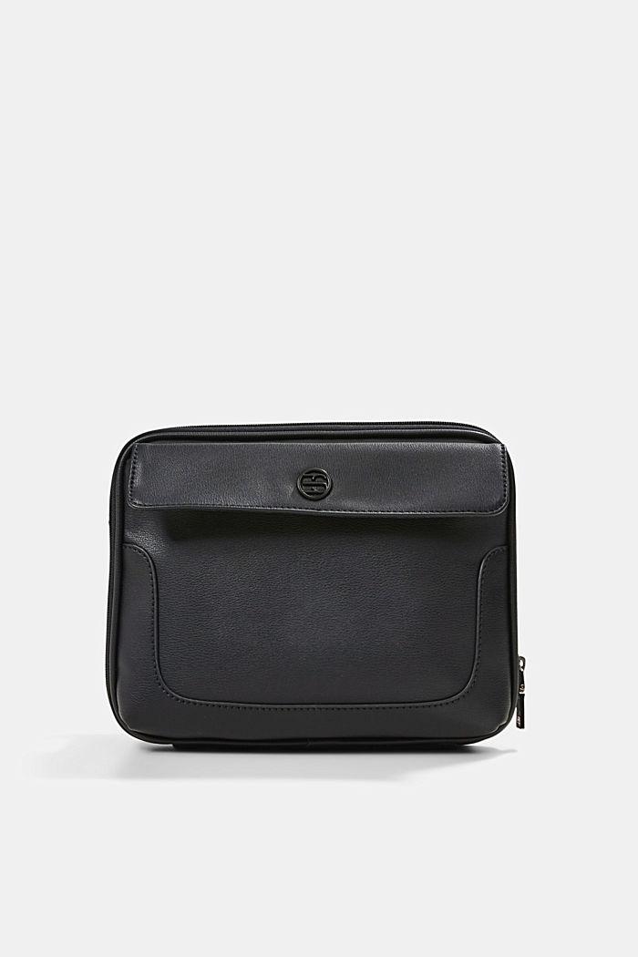 Vegan: Organiser bag with adjustable strap, BLACK, detail image number 0