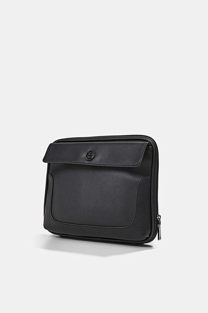 Vegan: Organiser bag with adjustable strap, BLACK, detail image number 2
