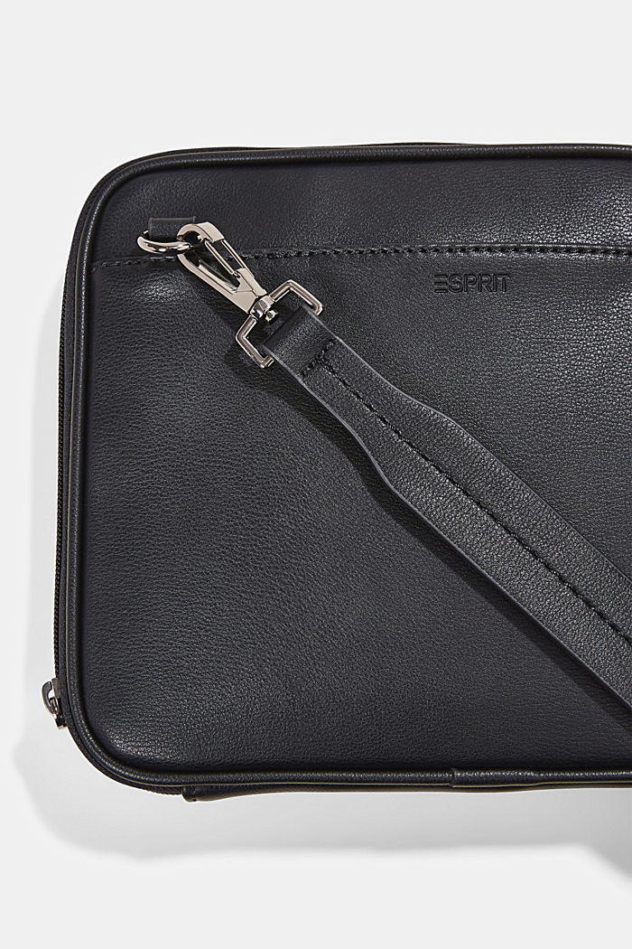 Vegan: Organiser bag with adjustable strap, BLACK, detail image number 5