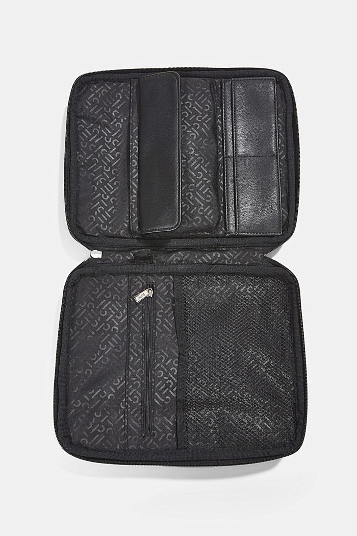 Vegan: Organiser bag with adjustable strap, BLACK, detail image number 4