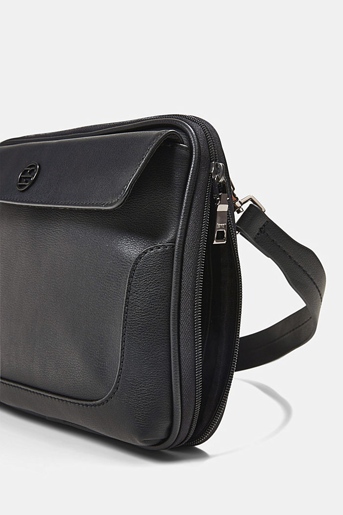 Vegan: Organiser bag with adjustable strap, BLACK, detail image number 3