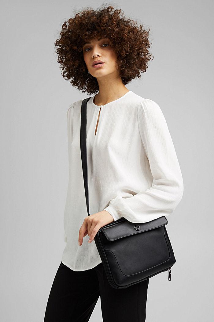 Vegan: Organiser bag with adjustable strap, BLACK, detail image number 1