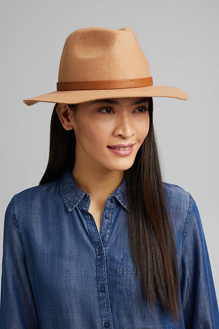 Fedora-Hut aus 100% Wolle