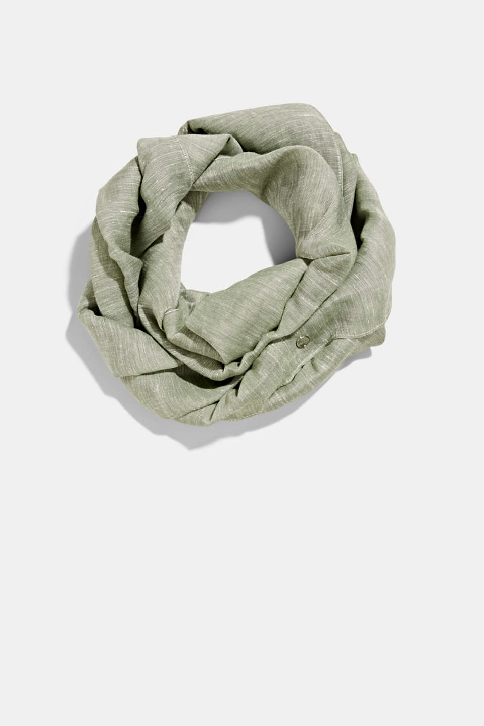 Esprit - Woven scarf with linen and LENZING™ ECOVERO™