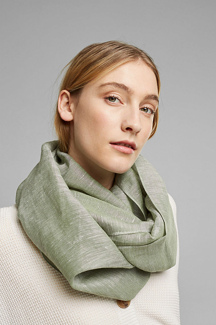 Woven scarf with linen and LENZING™ ECOVERO™