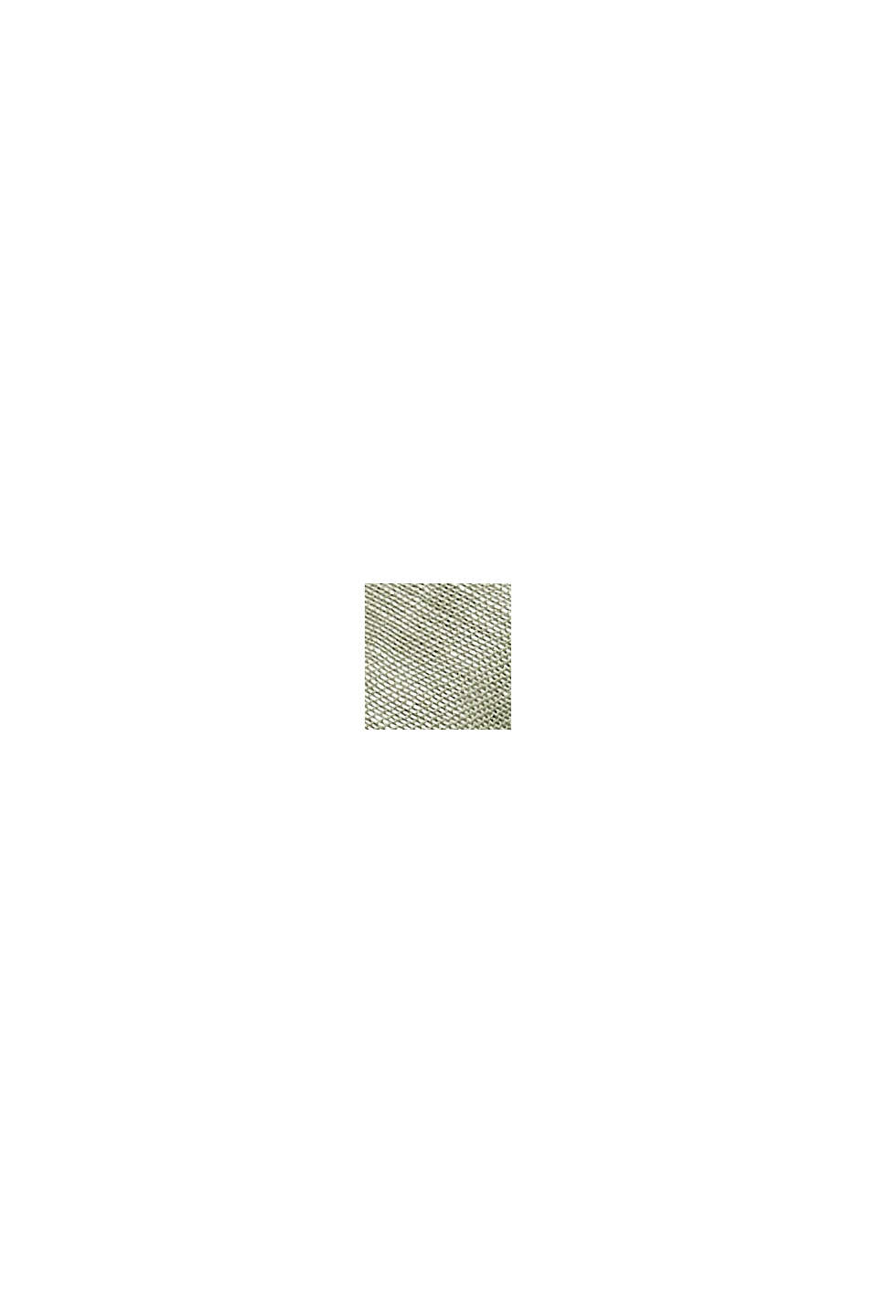 Woven scarf with linen and LENZING™ ECOVERO™, LIGHT KHAKI, swatch
