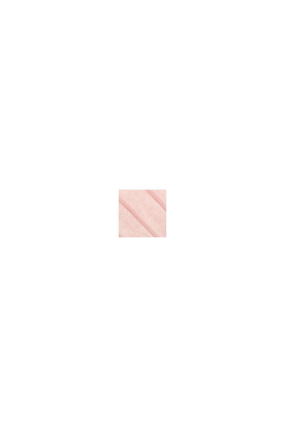 Recycelt: Tuch mit Plissee-Falten, NUDE, swatch