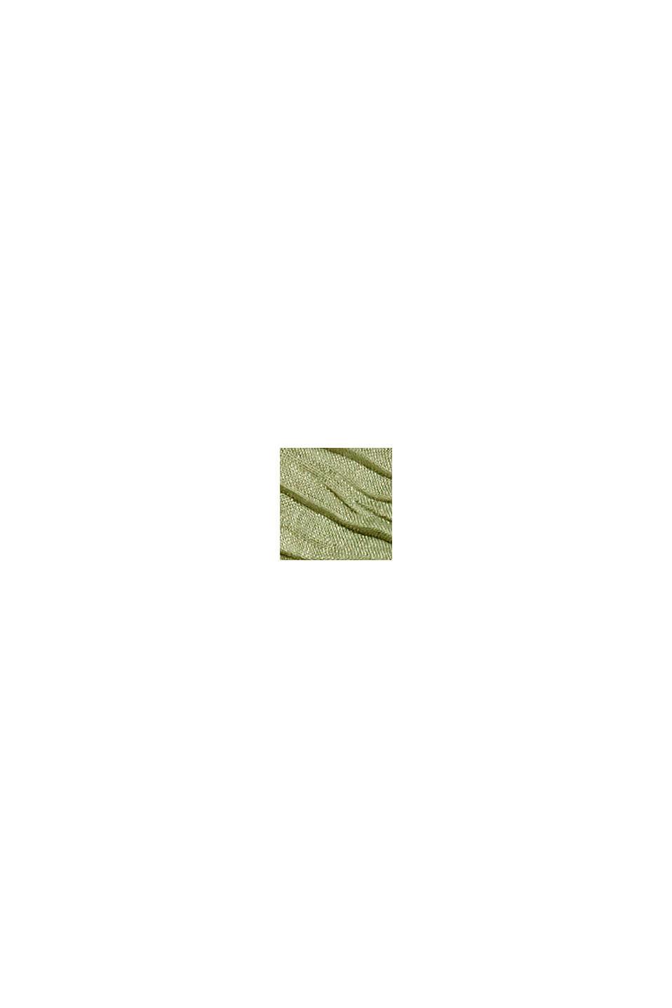 Recycelt: Schal mit Plissee-Falten, LIGHT KHAKI, swatch