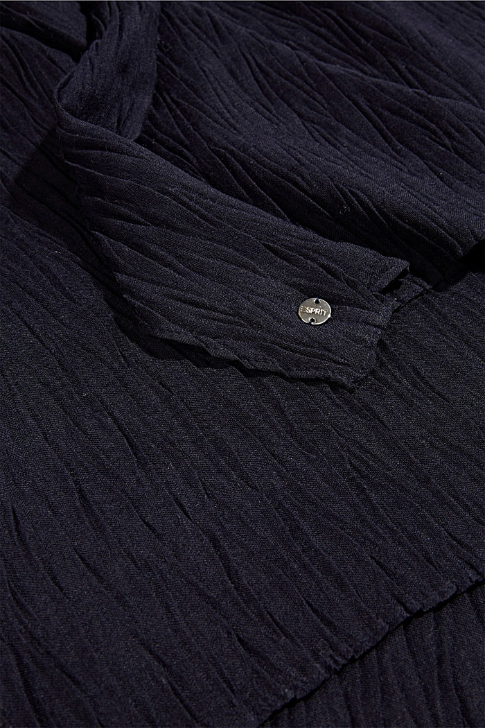 Recycled: Scarf with accordion pleats, NAVY, detail image number 2